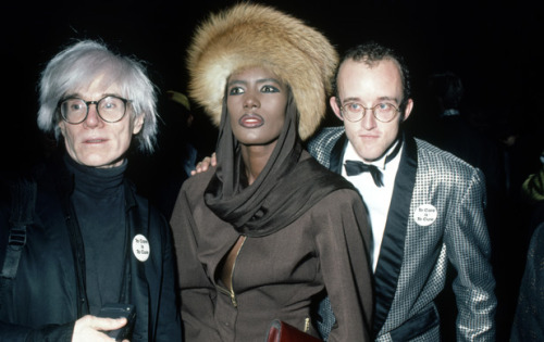 keith-haring:  Andy Warhol became an avid supporter of Grace Jones and Keith Haring