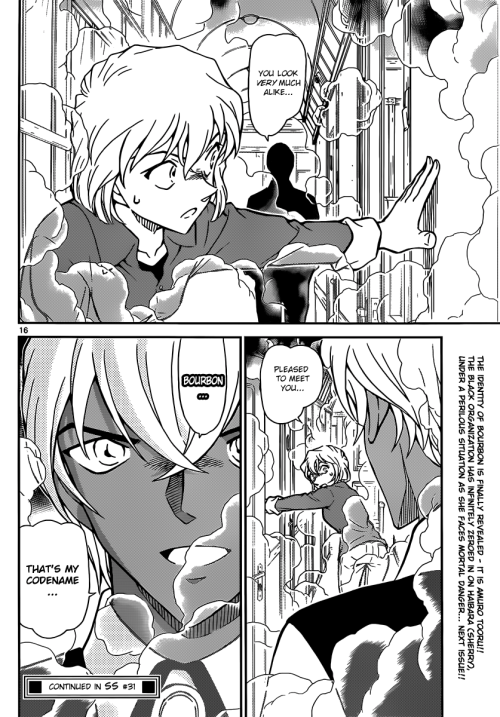 "hydreigon02:  *SPOILER ALERT* If you have not read Detective Conan File 823 yet, I highly advise you NOT to look at this post. Anyways, I just read Detective Conan File 823 today, and HOLY SHIT AMURO IS BOURBON!!!! I know alot of people already knew this, or speculated that he was indeed Bourbon, but personally, I knew Amuro would be Bourbon, but I when actually read the file and I found out that Amuro is Bourbon, I was literally screaming like a little girl screaming, ""OH MY GOD OH MY GOD OH MY GOD AMURO IS BOURBON!!!!!!"" Anyways, I can't wait for next week for File 824. I really hope Gosho Aoyama reveals what I've been speculating for like, FOREVER."