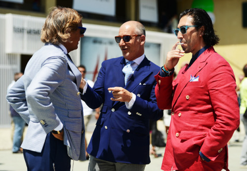 gqfashion:  Street Style: Pitti Uomo