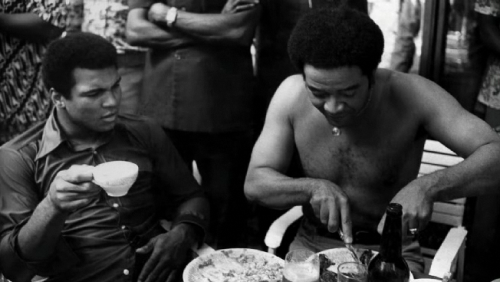 Muhammad Ali and Bill Withers, 1974