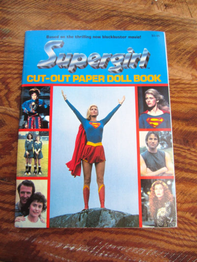 Vintage 1984 Supergirl Cut-out Doll by corrnucopia
