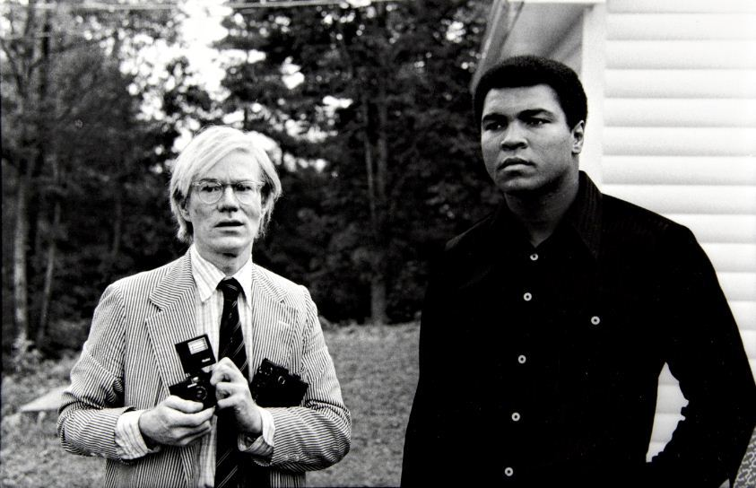 awesomepeoplehangingouttogether:  Andy Warhol and Muhammad Ali  Theyre both legends in their own right. One conquered the ring, one Photoshopped life…