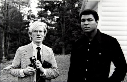 richdaily:  Andy Warhol and Muhammad Ali