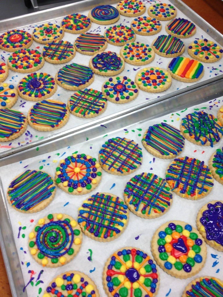 the happiest cookies in all the land! (rainbow royal icing can be quite addicting… pencils down!)