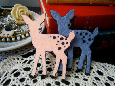 """Fawn"" Pick Your Color Brooch by theTriangleOfBears"