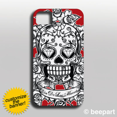 """Sugar Skull"" iPhone Case by beepart"