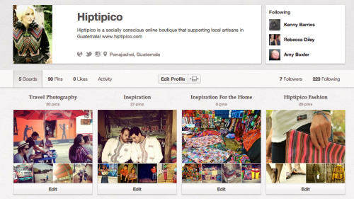 lysscglobal:  Don't forget to follow Hiptipico on Pinterest and Twitter Supporting Local Artisans in Guatemala!