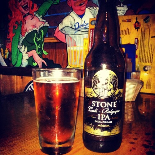 meladejo5:  One of my favorite beers @stonebrewingco. #CaliBelgique #Stone #IPA #bomb (Taken with Instagram)