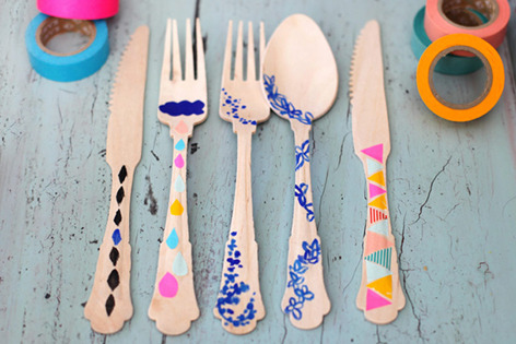 ohyaydesign:  DIY: Decorated flatware!