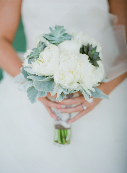 Succulant wedding bouquet