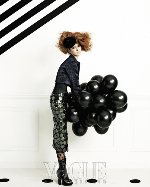 stylekorea:  Vogue Korea Title: A Play of Dots Model: Song Kyung Ah Photographer: Kim Young Jun August 2011