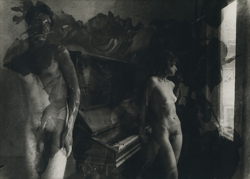 Edmund Teske - Bill Allard, Vicky Palermo At Piano With Roses Composite, 1964. … Scott Nichols Gallery