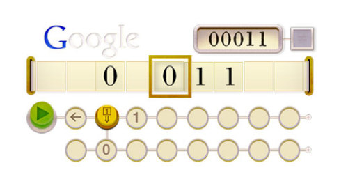 Excellent doodle commemorating Alan Turing's 100th birthday!