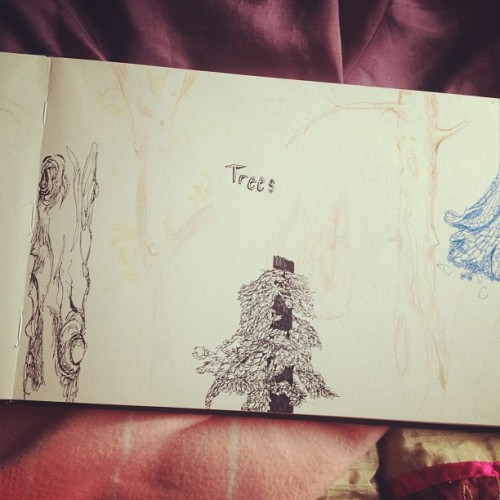 Trees, for him and her and you and me #pen #art #illustration #sketch #pencil #sketchbook #pencil #drawing (Taken with Instagram)