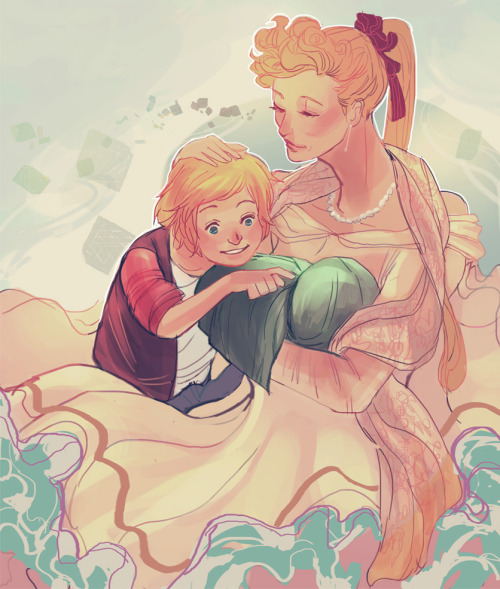 "hrh-frigga-of-asgard:  ""Adoption is a big step, you should have talked to me about this, how can you just expect to waltz in with the baby of one of our greatest enemies and expect me to raise it with no problems whatsoever?"" Those were the first words I said when Odin presented me with Loki, though the anger didn't last long.  Odin explained what had happened and how he had found the baby and then begged me to just hold him, that I would love the child as he did as soon as I did.  Initially I refused and I was going to walk away, but the tiny bundle in Odin's arms sneezed and then began to whimper. Without thinking, I took the child from Odin and wrapped him up tighter, the poor thing was freezing and he was going to become ill if he was taken care of soon.  She didn't blame Odin for that, he knew next to nothing about newborns and was still functioning after losing an eye, she thought it was a miracle that he had made it this far. ""Go to the healing room,"" she told him, ""I'll care for him and we'll take him to the Healers in the morning."" Odin left and she sat and rocked her new son, completely in love with him, ""Welcome to the family, little one, I love you very much."" She pressed her lips to his forehead and continued to rock him until her fell asleep."
