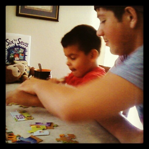 One of the reasons my #boyfriend #Carlos is amazing. He plays with my #nephew #johnny #GQ #greatestpersoniknow  (Taken with Instagram)