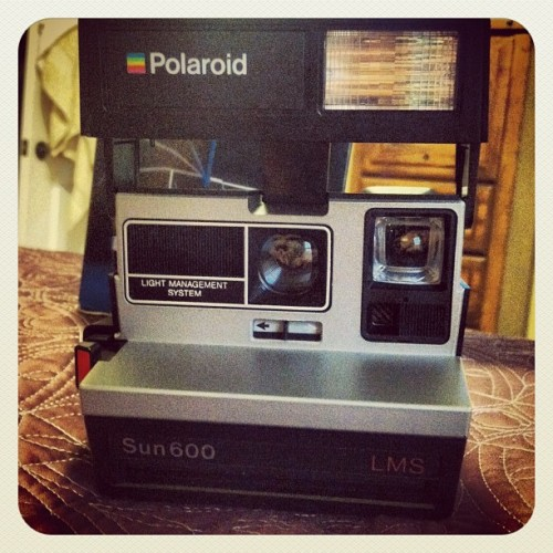 My polaroid camera from 1984 that has never been used except by myself! (Taken with Instagram)