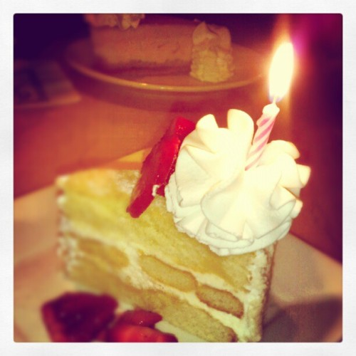 Birthday Lemonchello Torte! (Taken with Instagram at The Cheesecake Factory)