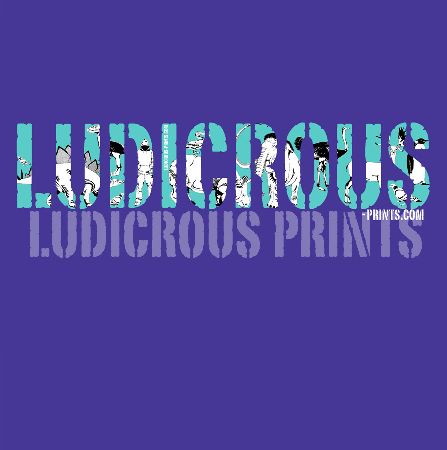 In another colour - Ludicrous Logo - Copyright Ludicrous Prints 2012