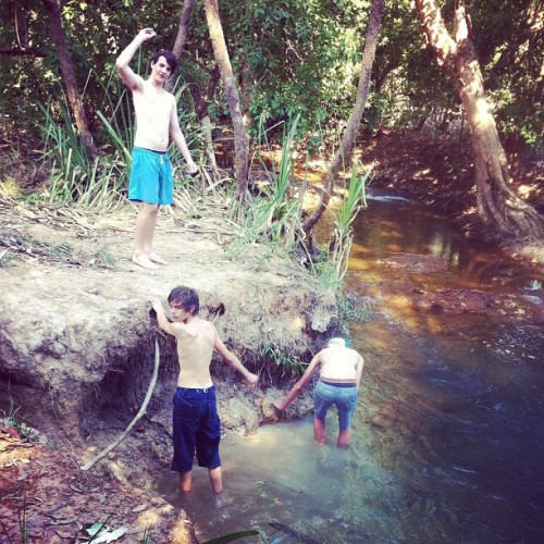 Shlack weekends with the boys at the creek <3  (Taken with Instagram)