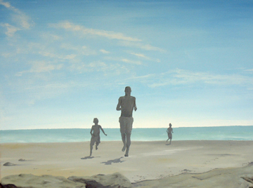 Boys on the Beach. Acrylic on canvas