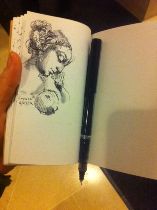 mollycrabapple:  Sketching at the Louvre. Thank you Canson! #artambassedor
