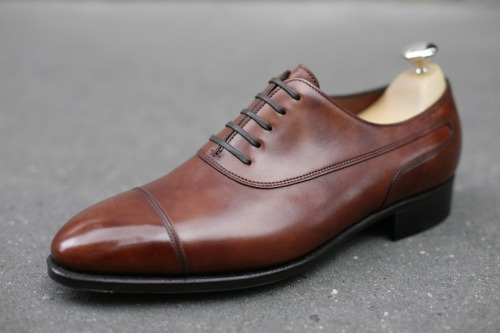 John Lobb Stafford Chestnut Museum Calf By Request Saint-Germain store Paris