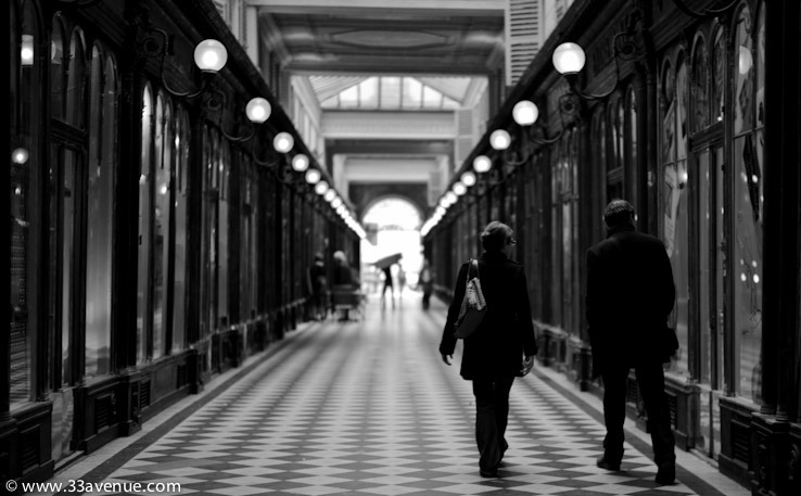 Within the Parisian arcades. Click image to read more.