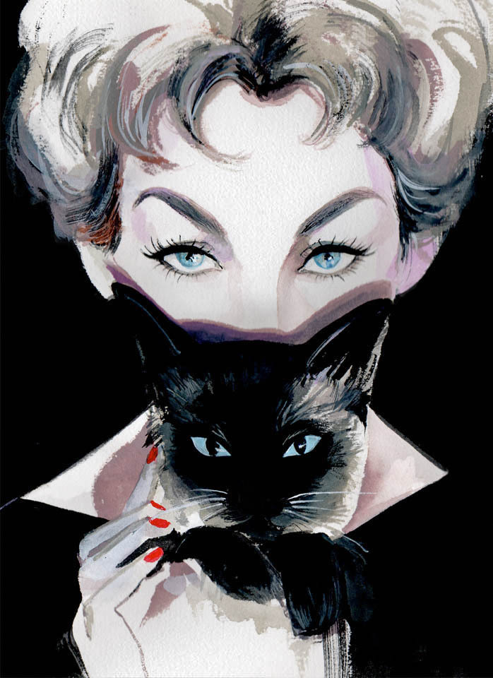 Kim Novak-the OG crazy cat lady