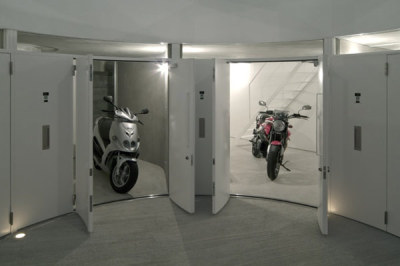 freshome:  Original Motorcycle-Friendly Apartment Building in Tokyo