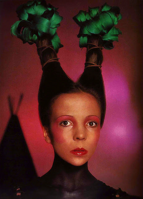 Penelope Tree by David Bailey (1970)Vogue Italia Make Up: Serge Lutens Hair: Aldo Coppola