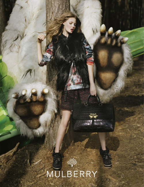 Mulberry F/W 2012 Campaign by Tim Walker  Lindsey Wixson