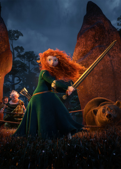 jonathanbogart:  As an individual piece of filmmaking, Brave is almost entirely a success: gorgeous, well-made, exciting, funny, heartwarming, etc., with a fine story that both digs deep into traditional folk tales (Scottish and otherwise) and speaks to modern concerns; even if few of us are bound by ancient tradition to wed the scion of a warring clan, most of us have experience of being torn between the demands of those we love and our own desires. As THE FIRST PIXAR MOVIE WITH A FEMALE PROTAGONIST, however, it's a bit of a disappointment. It is, of course, exactly what you would expect a bunch of good-hearted male nerds with daughters to come up with: The Hero's Journey, But For Girls! You can do anything you set your mind to, honey! Shoot, ride, swing swords! Adventure isn't just for boys anymore! But Pixar, especially lately, has trained me to expect better. Almost none of their previous movies can be boiled down to The Hero's Journey (and the ones that can — the Cars movies — are generally agreed to be the worst of the lot). They're stories about the social order (The Incredibles, A Bug's Life, the Toy Story trilogy), about coping with loss (Finding Nemo, Up), about the artistic life (Ratatouille), about human destiny (Wall-E), about the wonder of imagination (Monsters, Inc., the Toy Story trilogy again), and (every single one of them), about establishing communitarian ties — about creating families out of what would otherwise be pretty sad and lonely individuals.  So when THE FIRST PIXAR MOVIE WITH A FEMALE PROTAGONIST is instead about the pressures of already-extant family life — when the scope of the story is limited, in its essentials, to an intimate portrait of a specific mother-daughter relationship with no indication that anything but personal pride is ever really at stake — when, after all the shots have been fired and all the rides have been ridden and all the swords have been swung the world, the interpersonal relations, and the social order are exactly the same as they were when the story began, the underlying message is: you can shoot and ride and swing swords as much as you want, honey, but you'll never escape the domestic sphere. Everything, in the end, comes down to how much you love your mother. Looking broader than Pixar, this could be seen as a balancing of the scales for all the motherless-to-a-woman Disney Princesses. They, of course, were traditionally proscribed by the fairy tale form; and come to think of it, the sheer domesticity of the fairy tale, the one traditional form of European narrative that is allowed to have a female protagonist (other than the saint's life) is striking; compare fairy tales to the extended romances written in the same centuries about Lancelot, Roland, El Cid — stories about empire and ambition and tragedy, rooted in history however fantastically arranged. (You can almost hear a fourteenth-century editor explaining patiently that men are just submitting more epic poems, and with greater confidence; the stories that nurses, mothers and grandmothers tell on the hearth are no doubt very good of their kind, but they're not really what the National Ballad Awards were created to recognize.) To boil it down even more: not a single other Pixar movie is about how its hero is male (or male-identified). None of them even spend any time thinking about it. This one is very much about how Merida is a girl. And while that is not at all surprising, it kind of sucks. None of this is to be taken as suggesting that I didn't enjoy the movie. I very much did. As someone who has taken twenty years to recover from the realization that his life was not going to fall automatically into the Hero's Journey, I took great comfort in those familiar beats; and as someone whose first completed piece of prose narrative submitted for the approval of others featured a red-haired medieval Celtic princess who (I'm pretty sure) swung a sword once or twice, I took a very old satisfaction in the Gaelicisms of the voice acting, the set design, and the soundtrack. I'm well over it now (thank you, Internet), but it was not unpleasant to be reminded of  my fourteen-year-old self's romantic fascination with all things Celtic for two hours.   Uh, did he actually not note it's the first Pixar movie to have a female director except whoops she was removed from the project. Also I've not read any reviews by women that were even close to this positive. Also, race? Also:  As someone who has taken twenty years to recover from the realization that his life was not going to fall automatically into the Hero's Journey  HAHHAHAHAAAAAAQ  and as someone whose first completed piece of prose narrative submitted for the approval of others featured a red-haired medieval Celtic princess who (I'm pretty sure) swung a sword once or twice, I took a very old satisfaction in the Gaelicisms of the voice acting, the set design, and the soundtrack.  omg go review a Fiona Apple record, Senator. note: I actually don't give a shit about Pixar but this is so funny. ETA:  it was not unpleasant to be reminded of  my fourteen-year-old self's romantic fascination with all things Celtic for two hours.  I love me!
