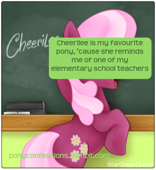 Cheerilee is my favourite Background Pony, 'cause she reminds me of one of my Elementary School teachers