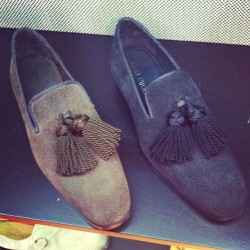 Serious tassel action at @JimmyChooLTD #mfw #attheshows  (Taken with Instagram)