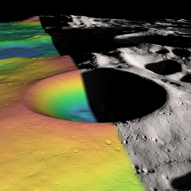 Researchers Estimate Ice Content of Crater at Moon's South Pole by NASA Goddard Photo and Video on Flickr.Fabulous image of craters at the Moon's south pole.