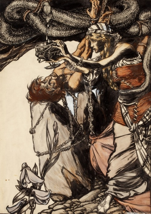 Sigyn, Loyal Wife of Loki (Arthur Rackham)