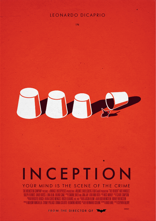 minimalmovieposters:  Inception by dioxyde