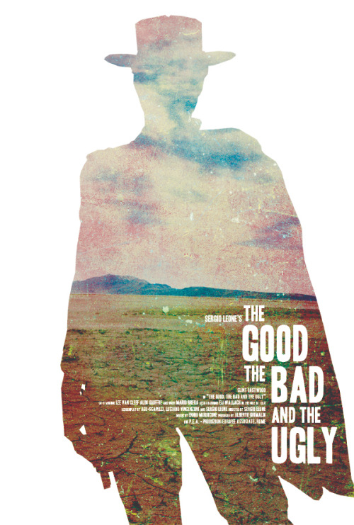 the8thmm:  minimalmovieposters:  The Good, The Bad, And The Ugly by Jeremy Burns