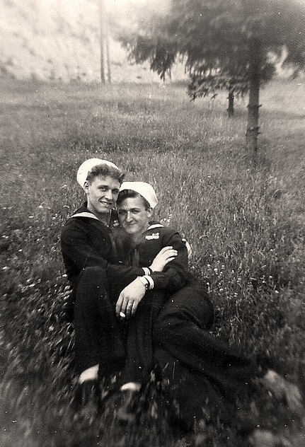 A gay couple photographed in the 1940's by Jessica