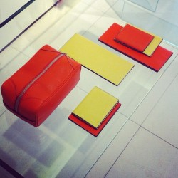 Technicolor travel essentials from Valextra #mfw #attheshows  (Taken with Instagram)