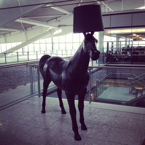 Horse lamp.  (Taken with Instagram at Terminal 5)