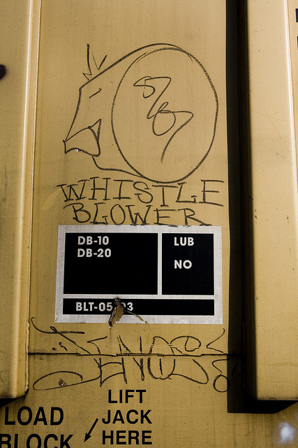 ~ Whistleblower ~ Jenos ~ Graffiti on a Train in Portland, OR 1-22-11 by xXxBrianxXx on Flickr.