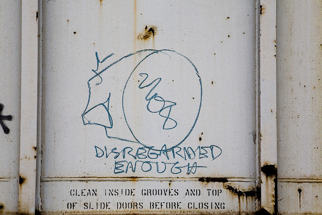 ~ Whistleblower ~ Graffiti on a Train in Portland, OR 1-24-11 by xXxBrianxXx on Flickr.