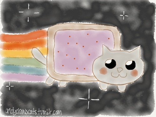 andydrawscats:  nyan cat  I heard you like memes…
