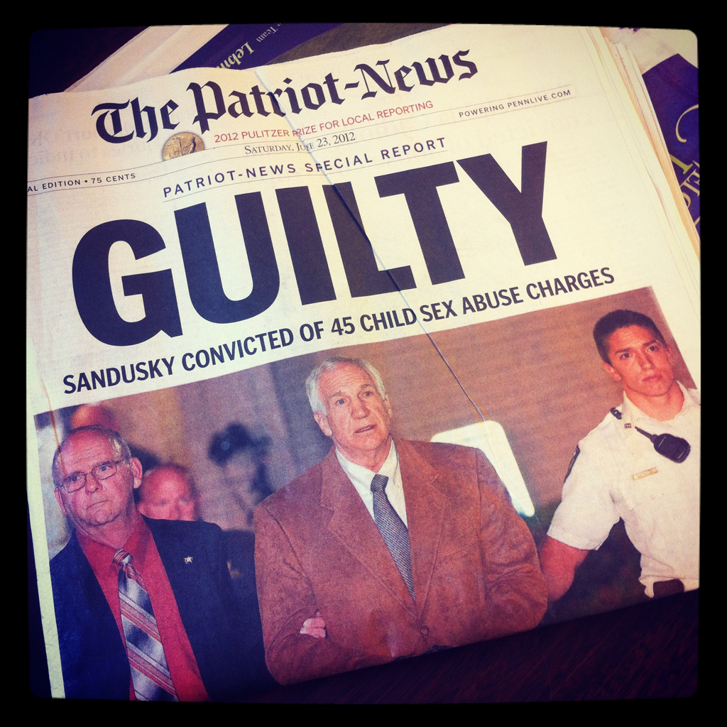 The Sandusky front page of the Patriot-News