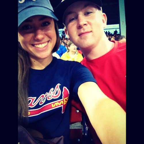 Me and Pete at the braves red sox game last night! :)
