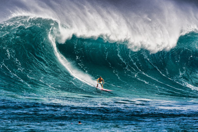 Big Wave Rider by Warren Ishii