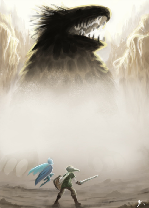 dodongodislikessmoke:  Link VS A mouth with legs by *biscuitcrumbs