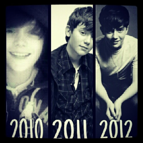 holdontil-thenight:  Greyson's avatar on twitter year by year #greysonchance #twitter #avatar (Taken with Instagram)